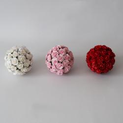 Papierové ruže - guľa
