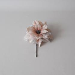 Poinsettia bl. ružová glitter