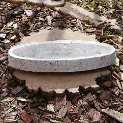 Obal ovál cement 30,7x10x5cm