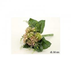 Kytica sukulent 32cm ruž.