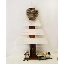 Stromček vianočný drevený