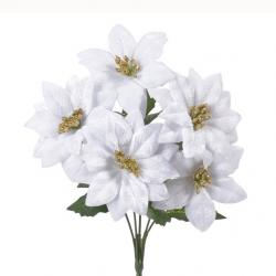 Poinsetia krém/ biela 32cm
