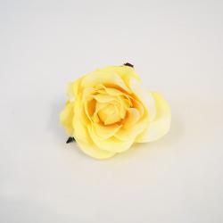 Hlava ruža 7cm žltá