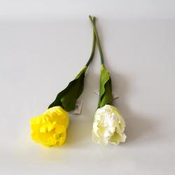 Tulipán 60cm žltý/biely